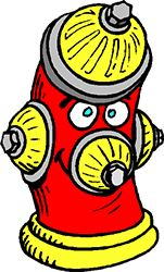 fire hydrant cartoon
