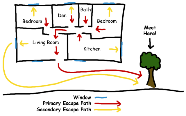 escape diagram
