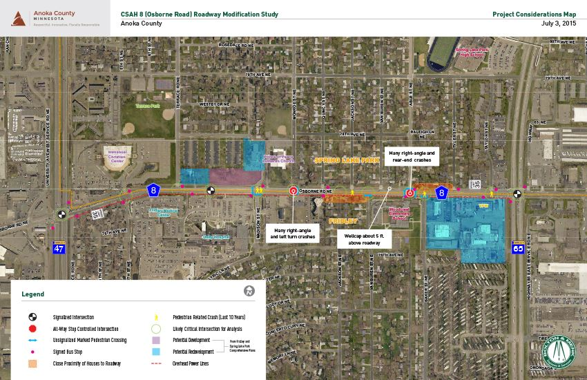 Osborne Road Project Considerations Map