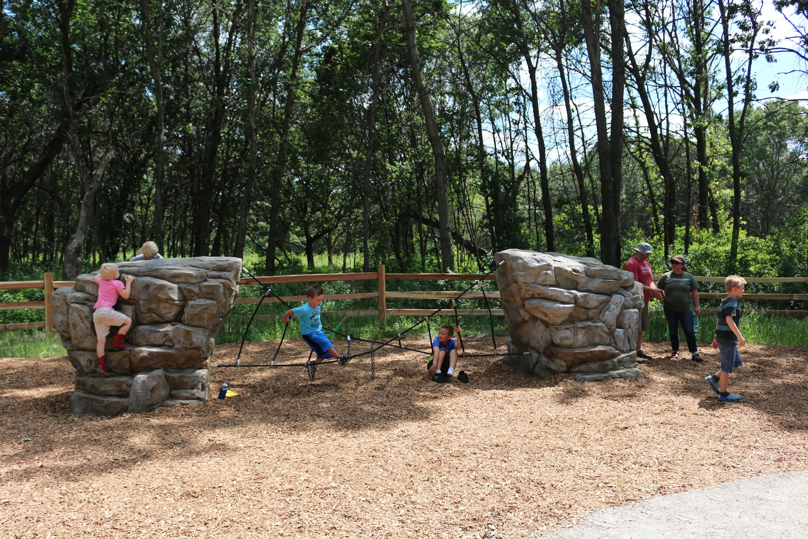 Rock Climber in Nature Play Area
