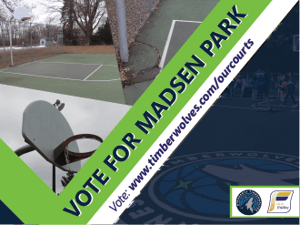 Vote for Madsen Park! Finalist for Timberwolves court revitalization program