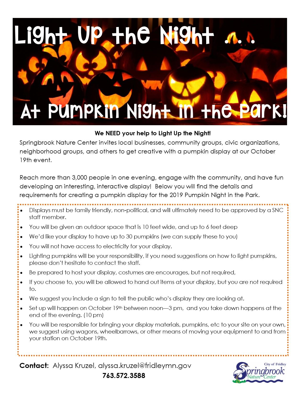 Pumpkin Display Info 2019