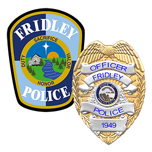 Fridley Police patch and badge